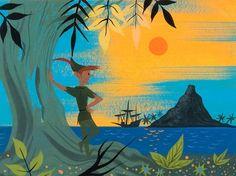 "Mary Blair concept art for Walt Disney's""Peter Pan"" (1953)"