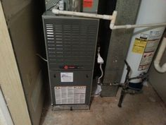 Change out; Trane furnace (even in a tight spot!)