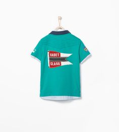 ZARA的图片 2 名称 帶襯衫航海圖案 POLO 衫
