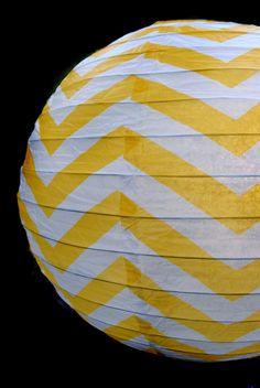 14 Inch Yellow Chevron Paper Lantern, Even Ribbing, Hanging Decoration on Sale Now! Paper Lantern Store, Paper Lanterns, Chevron Paper, Yellow Chevron, Wedding Paper, Party Supplies, Wedding Decorations, Design Inspiration, Holiday Decor