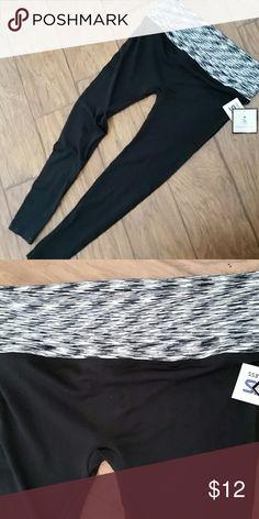 Good karma yoga pants Good Karma black yoga pants with fold-over waistband good karma Pants