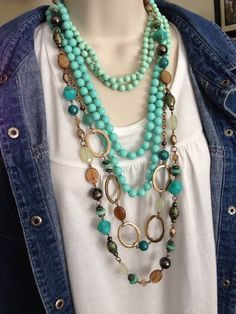Boho style at its best. Seabreeze and St.Lucia necklaces by Premier Designs Jewelry. http://ceciliafunk.mypremierdesigns.com