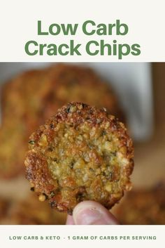 3 Ingredient Low Carb Crack Chips - Literally so addicting! Crispy and Crunchy, the next best thing next to potato chips! Low Carb & Keto, LCHF 1 gram carbs per serving!