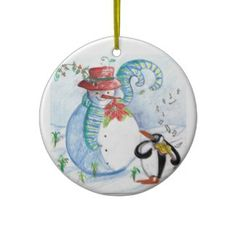 PENGUIN'S SERENADE CHRISTMAS ORNAMENTS