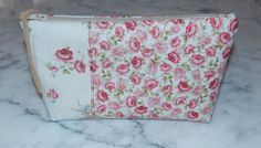 Roses Zipper Pouch Cosmetic Bag by KeriQuilts on Etsy, $14.00