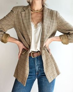 In great condition, and hundo percent wool outer l… aesthetic vintage Stunning vintage DKNY blazer. In great condition, and hundo percent wool outer l… Trendy Outfits, Fall Outfits, Cute Outfits, Fashion Outfits, Blazer Fashion, Dress Outfits, Gym Outfits, Layering Outfits, Blazer Outfits