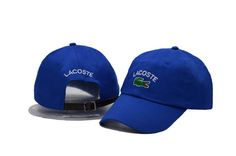 Men's / Women's Lacoste Classic Croc Logo Embroidery Leather Strap Back Curved Adjustable Dad Hat - Blue Lacoste Store, Dad Hats, Baseball Cap, Crocs, New Fashion, Dads, Embroidery, Classic, Originals