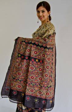 Kantha Embroidery and Batik Saree.