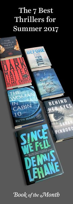 Missing people, whodunnits, and twists and turns—you won't be able to put these gripping reads down. Head to bookofthemonth.com to start reading for $10 per book.