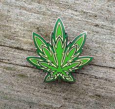 SALE Firebud ganja GLOW pin 420 710 pot by UncleJohnsOutfitters