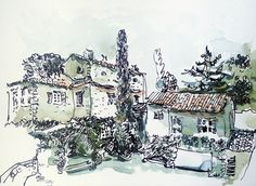 Its page from my sketchbook. 15x21cm 6x8 Mediterrian house, architecrure sketch. Watercolor, paper 165gsm Derwent, ink, pen.