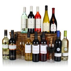 Grab your Twelve Wines in Wicker at a great price and enjoy shopping. http://redhamper.co.uk/twelve-wines-in-wicker/  #justdrink #trays