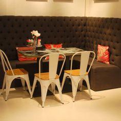 tolix stoel met houten zitting