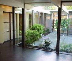 Eichler atrium, glass house, eichler for sale, eichler home atrium and courtyard design idead, marin modern, modern design ideas, original eichler home, bamboo, cork flooring
