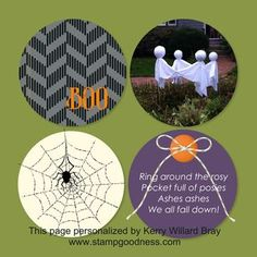 Halloween scrapbook page (8x8) made using the digital design program mds2 from Stampin' Up!