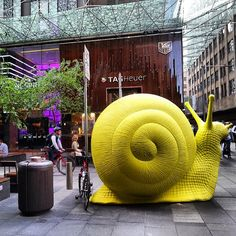 24 Giant Fluorescent Snails are Scattered Around Sydney