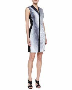Mercer Printed Zip Dress by Elie Tahari at Bergdorf Goodman.