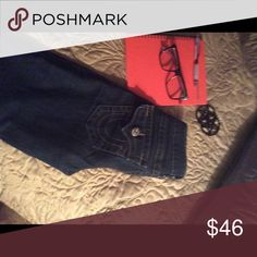 PAY DAY SALE****😍😍😍😍 TRUES Blue long jeans button pockets True Religion Jeans