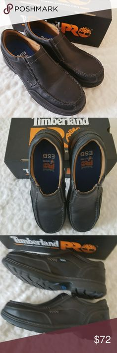 Mens Timberland Branson Work Shoes Perfect work shoes, very comfy and easy to slip on. Worn once. Comes with box Timberland Shoes Loafers & Slip-Ons