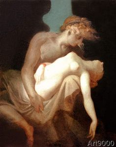Johann Heinrich Füssli - Amor and Psyche
