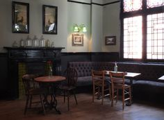 VICTORIAN PUB - use the gray to compliment stone and wood floor