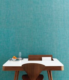 Chilewich Mini Basketweave Wallcovering in Turquoise #sisalcarpet.com #wallpaper