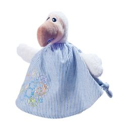 The Doudou Dodo for Babies made with very soft material Polyester velour and 100% cotton top.   Made in Mauritius Wally Plush Toys Ltd.