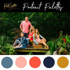 Beautiful summer colors at the Kent Smith Photography pond! Corals and blues for this family session.