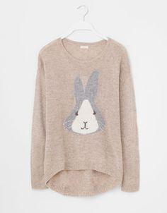 Rabbit print jersey - Sweaters & Cardigans - Loungewear - Russia