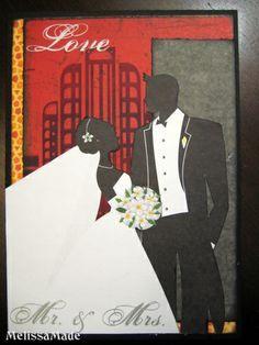 cricut art deco cartridge | Amazing art deco style wedding card