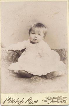Cabinet Card Portrait of Beautiful Light Eyed Baby Altoona PA | eBay