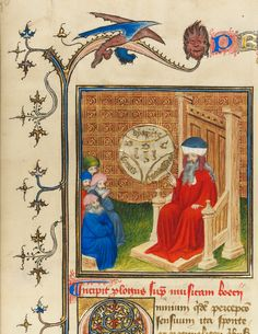 Boethius discusses music with a group of men. About 1405. Tempera colors, gold paint, gold leaf and ink on parchment. The scholar and philosopher Boethius wrote concerning music in the 500s. (Author portrait). see: http://www.getty.edu/art/exhibitions/power_piety/ Reutilization rights: This image is available for download without charge, under the Getty's open content program.