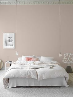 Anna G.: New dusty shades from Jotun Lady Anna G.: New dusty shades from Jotun Lady Home Bedroom, Modern Bedroom, Bedroom Decor, Bedroom Lighting, Calm Bedroom, Bedroom Wall, Closet Interior, Jotun Lady, Ideas Hogar