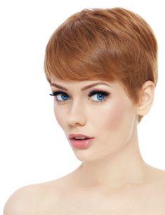 Soft Short Hairstyle with Long Fringe
