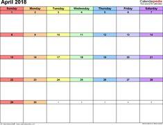 Calendars, Templates & Bank Holidays