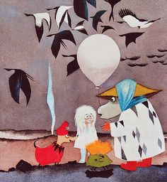 The Dangerous Journey Tove Jansson ~ originally published 1977 as Den farliga resan reissued in the UK by Sort of Books, 2010 After seei. Tove Jansson, Moomin Books, Vintage Children's Books, Vintage Kids, Georges Braque, Wow Art, Children's Book Illustration, Childrens Books, Drawings