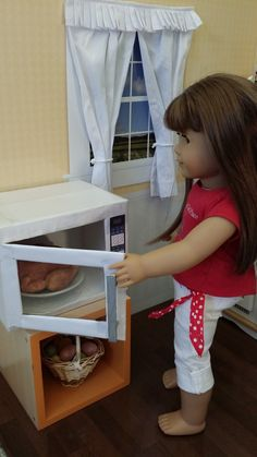 American Girl Doll Crafts and Fun!: Craft: Make a Microwave for Your Doll