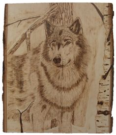 great wolf wood burning art