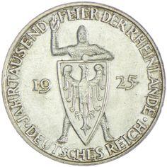 Weimarer Republik 1919 - 1933  3 Reichsmark 1925 D Silber