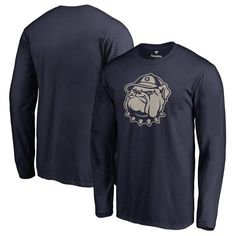 Georgetown Hoyas Fanatics Branded Big & Tall Primary Team Logo Long Sleeve T-Shirt - Navy - $29.99