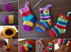 DIY Crochet Christmas Socks with Free Pattern