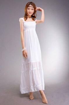 Amazon.co.jp: ジュリー・フェイン・アート Julie Fain Art ロング レース キャミソール【 フリーサイズ 】白 ホワイト: 服&ファッション小物