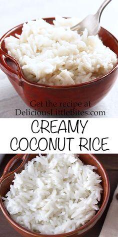 Sticky Rice Recipes, Coconut Recipes, Coconut Rice Recipe Rice Cooker, Sweet Coconut Rice Recipe, Cocunut Rice, Coconut Sticky Rice, Coconut Milk Rice, Indian Food Recipes, Asian Recipes