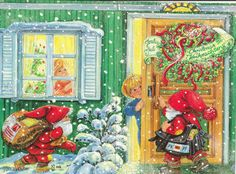 . Christmas Crafts, Xmas, Elves, Danish, Illustrators, Cheer, Folk, December, Diy