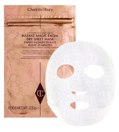 We tried it: The new Charlotte Tilbury Instant Magic Facial Dry Sheet Mask, launching this March. Here's the scoop.