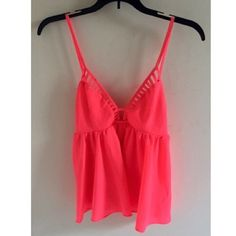 Ladder front tank A gorgeous bright pink top with a ladder- detailed front that is just as flattering as it is fabulous ✨ one of my all time favorites  (Australian size 12/US size 8) Boutique brand Tops Tank Tops