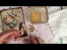 Encaustic - Imbedding Photocopies - YouTube