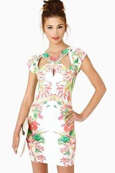 Women's Fashion Sacred Island Print Dress