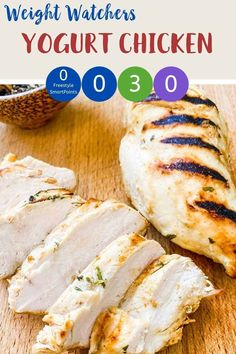 This succulent yogurt chicken is simple to make and tastes delicious. Zero SmartPoints on WW Blue & Purple plans and 3 SmartPoints on WW Green it makes a fantastic Weight Watchers dinner recipe. #wwrecipes #wwbluerecipes #wwgreenrecipes #wwpurplerecipes #weightwatcherszeropointrecipes #ww Weight Watchers Meal Plans, Weight Watcher Dinners, Weight Watchers Chicken, Weight Watchers Smart Points, Green Chicken Recipe, Easy Chicken Recipes, Ww Recipes, Dinner Recipes, Healthy Recipes