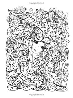 Creative Haven Fanciful Faces Coloring Book (Creative Haven Coloring Books): Miryam Adatto, Creative Haven: 9780486779355: Amazon.com: Books...